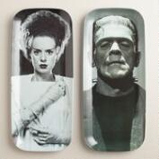 Frankenstein's Monster and Bride Platters, Set of 2