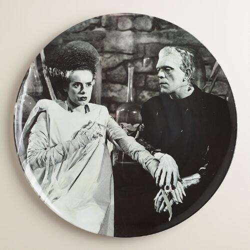 Round Frankenstein's Monster and Bride Platter