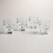 Skull Shot Glasses, 4-Count