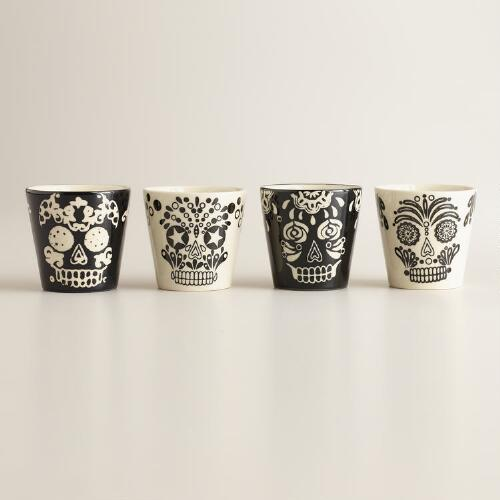 Muertos Shot Glasses, Set of 4