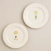 Herb Garden Plates, Set of 2