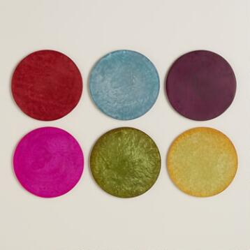 Resin Coasters, Set of 6