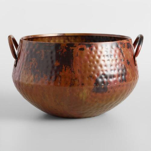 Hammered Copper Ice Bucket