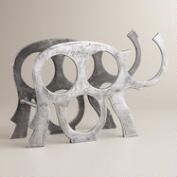 Elephant 4-Bottle Wine Rack