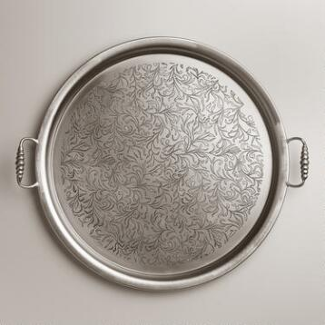 Large Round Iron Tea Tray