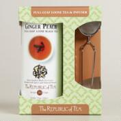 The Republic of Tea Ginger Peach Tea and Infuser Set