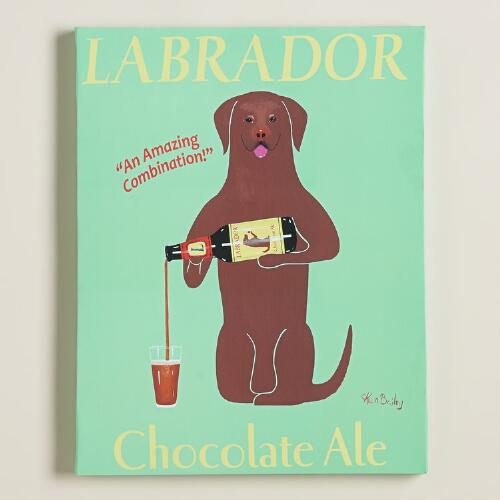 """Chocolate Labrador"" by Ken Bailey"