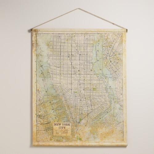 NYC Map Tapestry