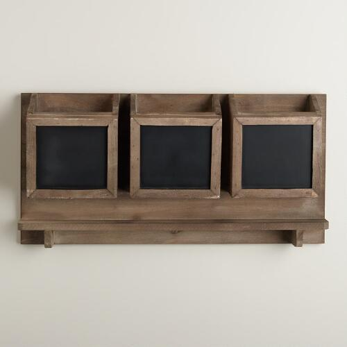 Wooden Farmhouse Cardholder Wall Storage