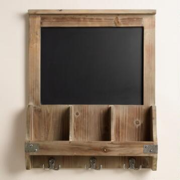Elliot Chalkboard Cubby and Hook Wall Storage