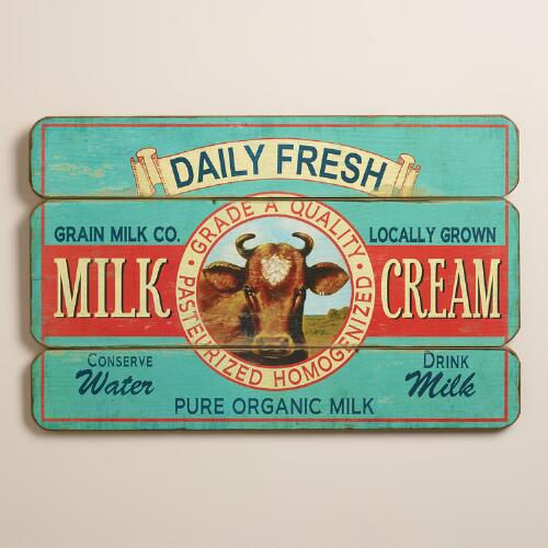 Daily Fresh Milk and Cream Sign