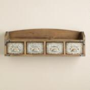 Wood and Metal Parker Wall Shelf