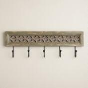 Gray Moroccan Karima Hook Wall Storage