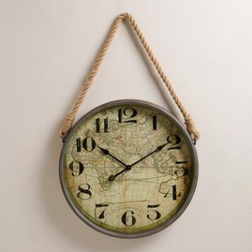 Map Clock with Rope