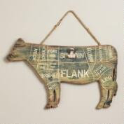 Cow Card Holder Wall Decor
