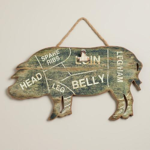 Pig Card Holder Wall Decor