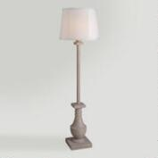Concrete Urn Outdoor Floor Lamp
