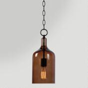 Mini Amber Glass Pendant Lamp