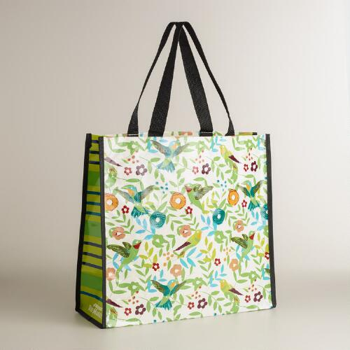 Woodland Birds Print Reusable Tote