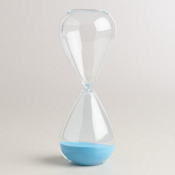 Hourglass with Blue Sand