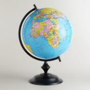 Blue Globe with Bronze Stand