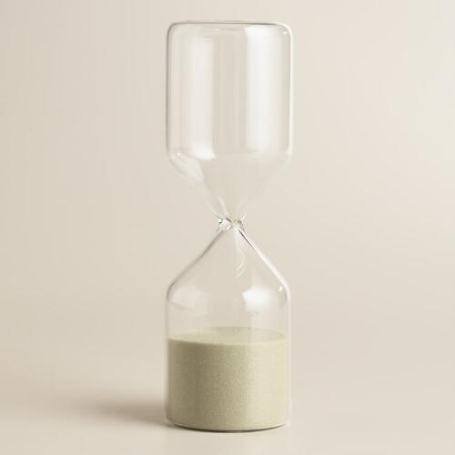 Hourglass with Tan Sand