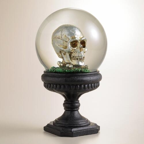 Water Globe with Skull and Bats