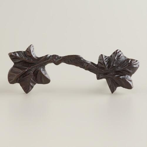 Bronze Leaf Drawer Pulls, Set of 2
