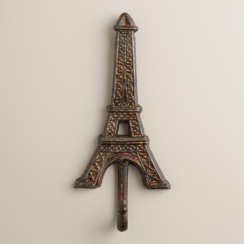 Eiffel Tower Iron Wall Hook