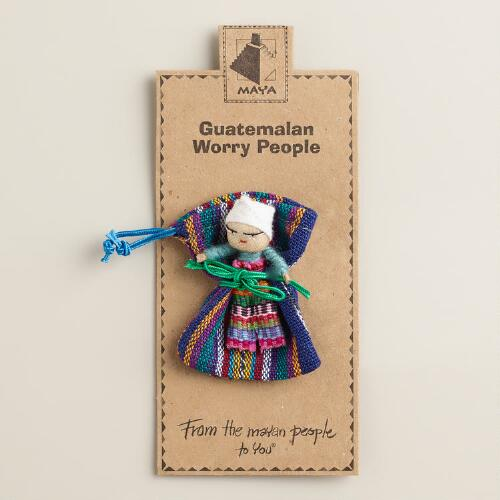 Guatemalan Worry Dolls, Set of 6