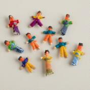 Mini Guatemalan Worry Dolls, Set of 6