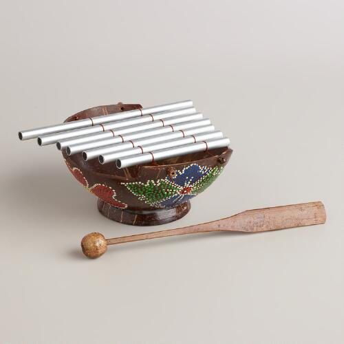 Painted Coconut Chime Instrument
