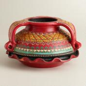 Hand Painted Urali Terracotta Bowl