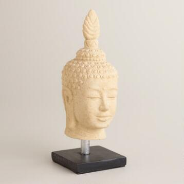 Cast Stone Buddha Head
