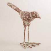 Antiqued Whitewashed Iron Bird