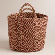 Printed Jute Storage Basket