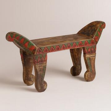 Painted Wood Traditional Sitting Stool