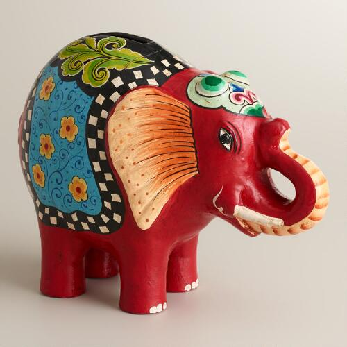 Red Terracotta Elephant