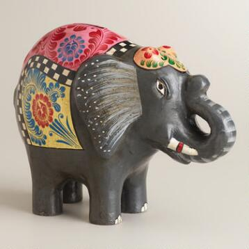 Black Terracotta Elephant