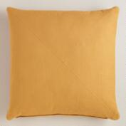 Amber Herringbone Cotton Throw Pillow