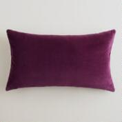 Potent Purple Velvet Lumbar Pillow