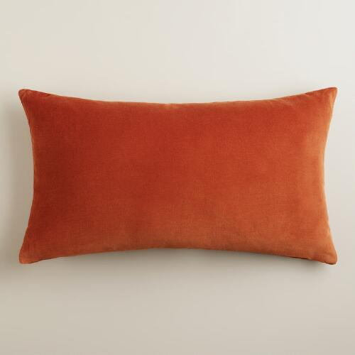 Rooibos Rust Velvet Lumbar Pillow