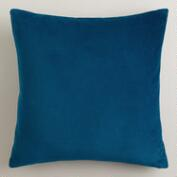 Night Blue Velvet Throw Pillows