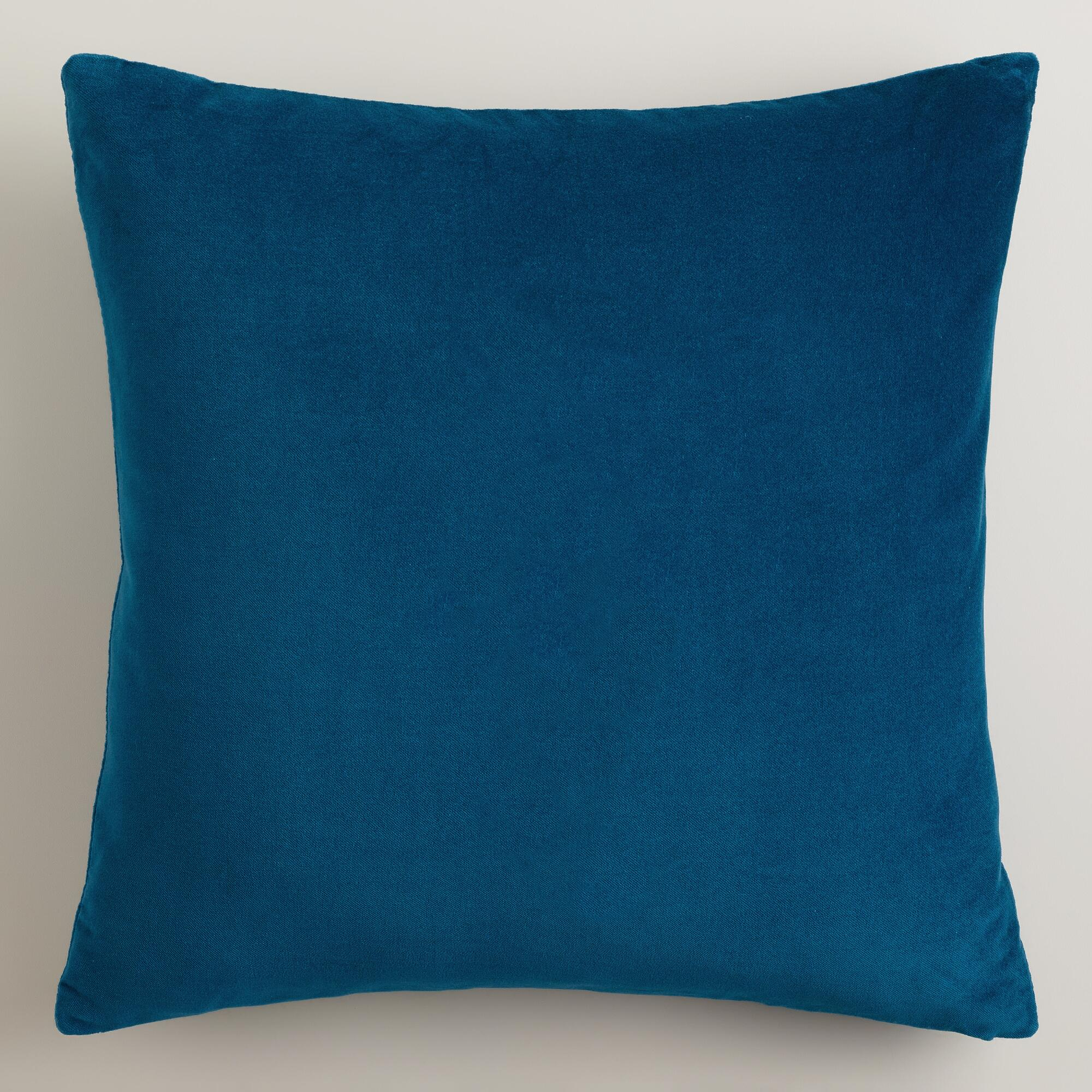 Blue Velvet Throw Pillows : Night Blue Velvet Throw Pillows World Market