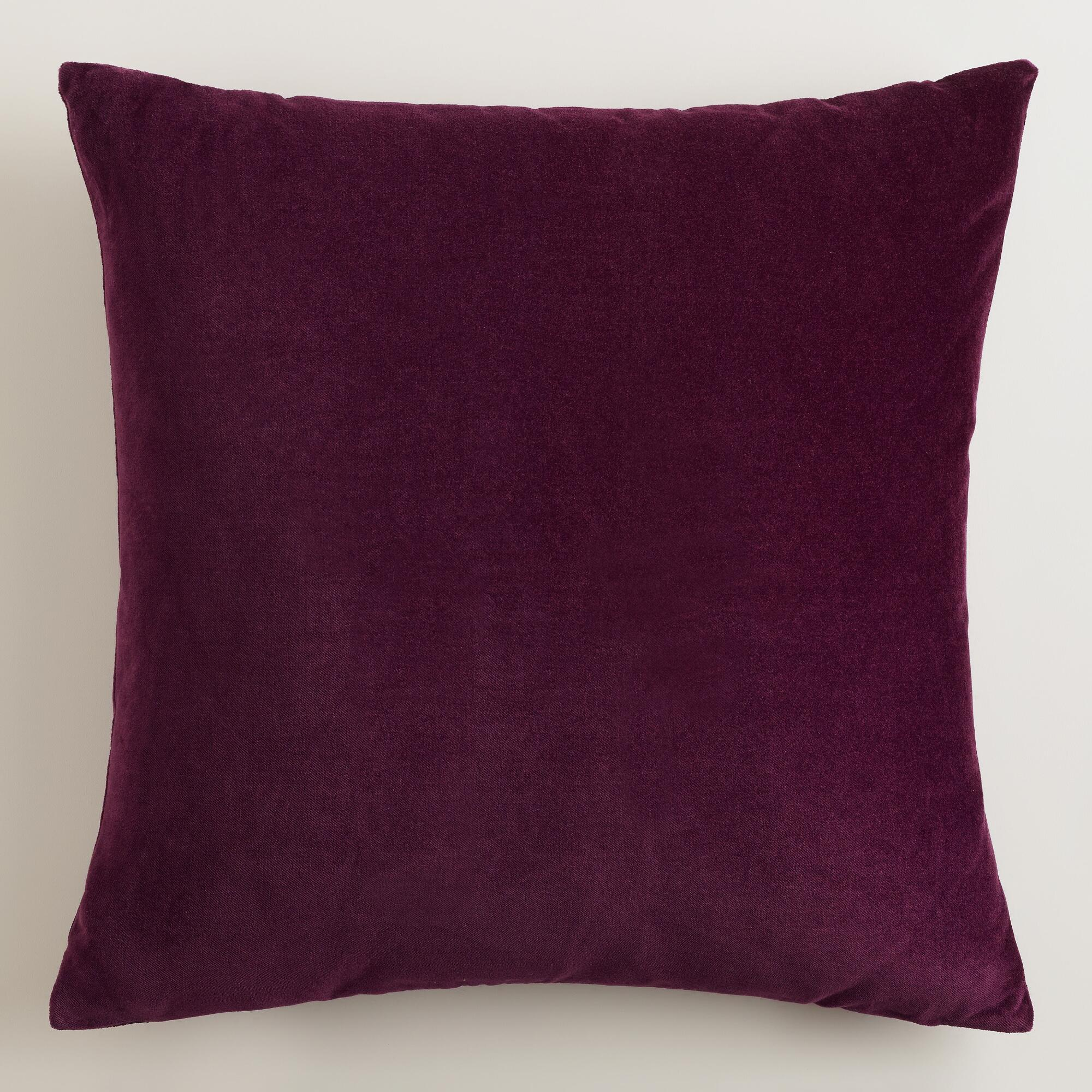Purple Velvet Decorative Pillows : Potent Purple Velvet Throw Pillows World Market