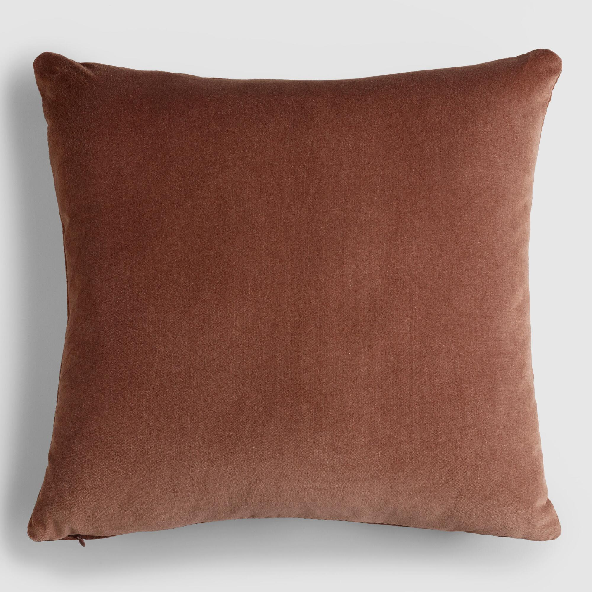 Chocolate Brown Velvet Throw Pillow World Market
