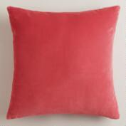 Coral Velvet Throw Pillows