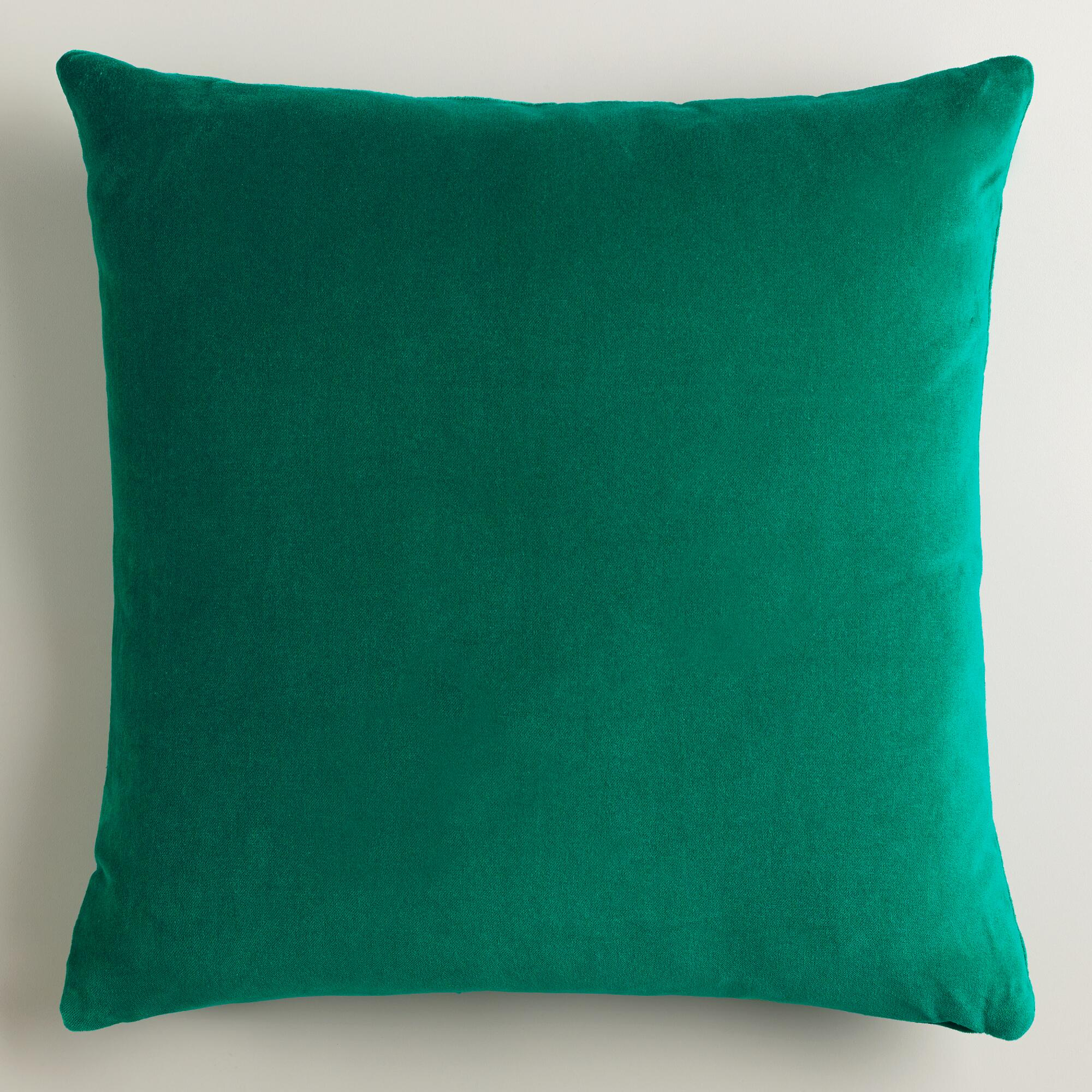 Decorative Pillows With Green : Emerald Green Throw Pillows images