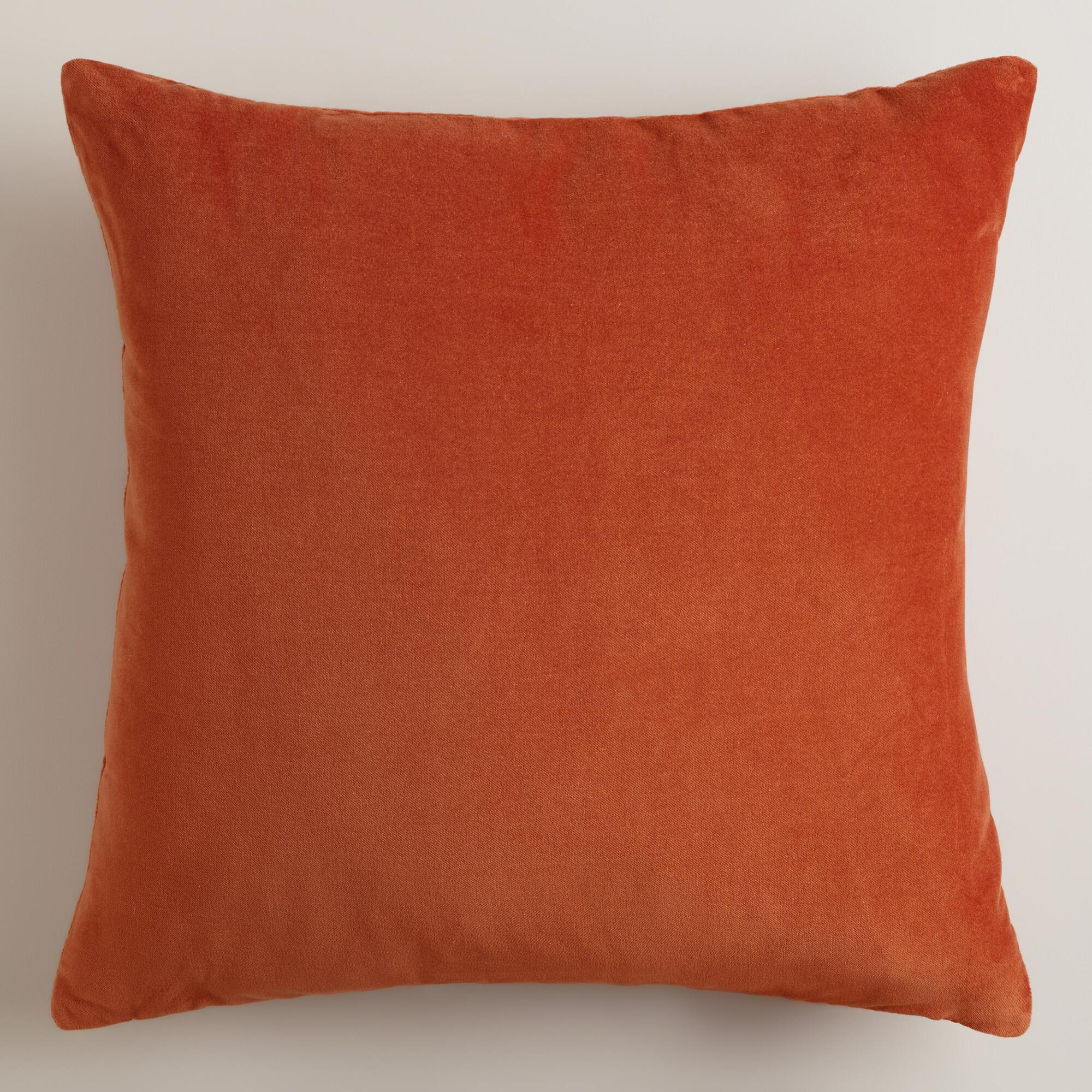 Throw Pillow Rust : Rooibos Rust Throw Pillows World Market