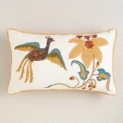 Tree House Bird and Flower Lumbar Pillow